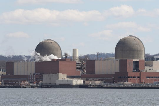 Indian Point Energy Center in Buchanan, viewed from Tomkins Cove on Tuesday, April 2, 2019.
