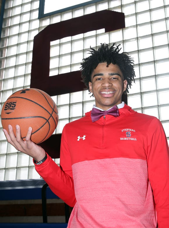 Stepinac's R.J. Davis is the Journal News/lohud Westchester/Putnam boys basketball player of the year March 29, 2019.