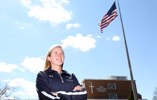 Senior Lily Flynn, our Westchester/Putnam girls track & field winter athlete of the year, at The Ursuline School in New Rochelle April 1, 2019. Flynn will run next year for Stanford.