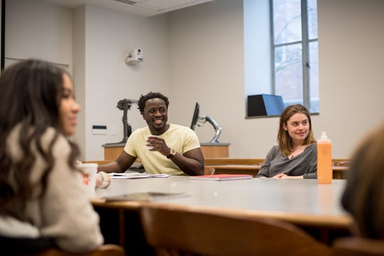 Nana Kwame Adjei-Brenyah teaches creative writing at Syracuse University. His creative writing class varies from poetry to short story structure.