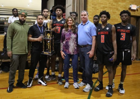 New York Gauchos wins the title 116-101 over New York Falcons during the 73rd edition of the Sinis/Ciccone Memorial Tournament at Our Lady of Mercy in Port Chester April 1, 2019.