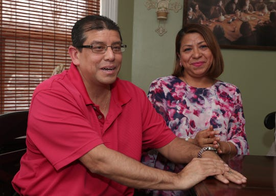Alejandro, left, Maria Elena Carreño in their Sloatsburg home on Tuesday, April 2, 2019.  The Carreño's were renting the house when the owner let it go into foreclosure.