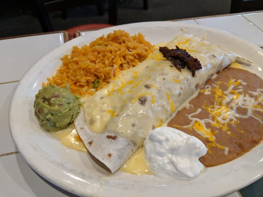Steak burrito at Vaca Loca.