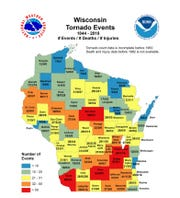 A historical look at tornado events, deaths and injuries recorded in the state of Wisconsin.