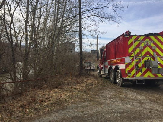 A fire was discovered in an abandoned mine shaft Tuesday morning near White Cottage. The cause of the fire is being investigated.