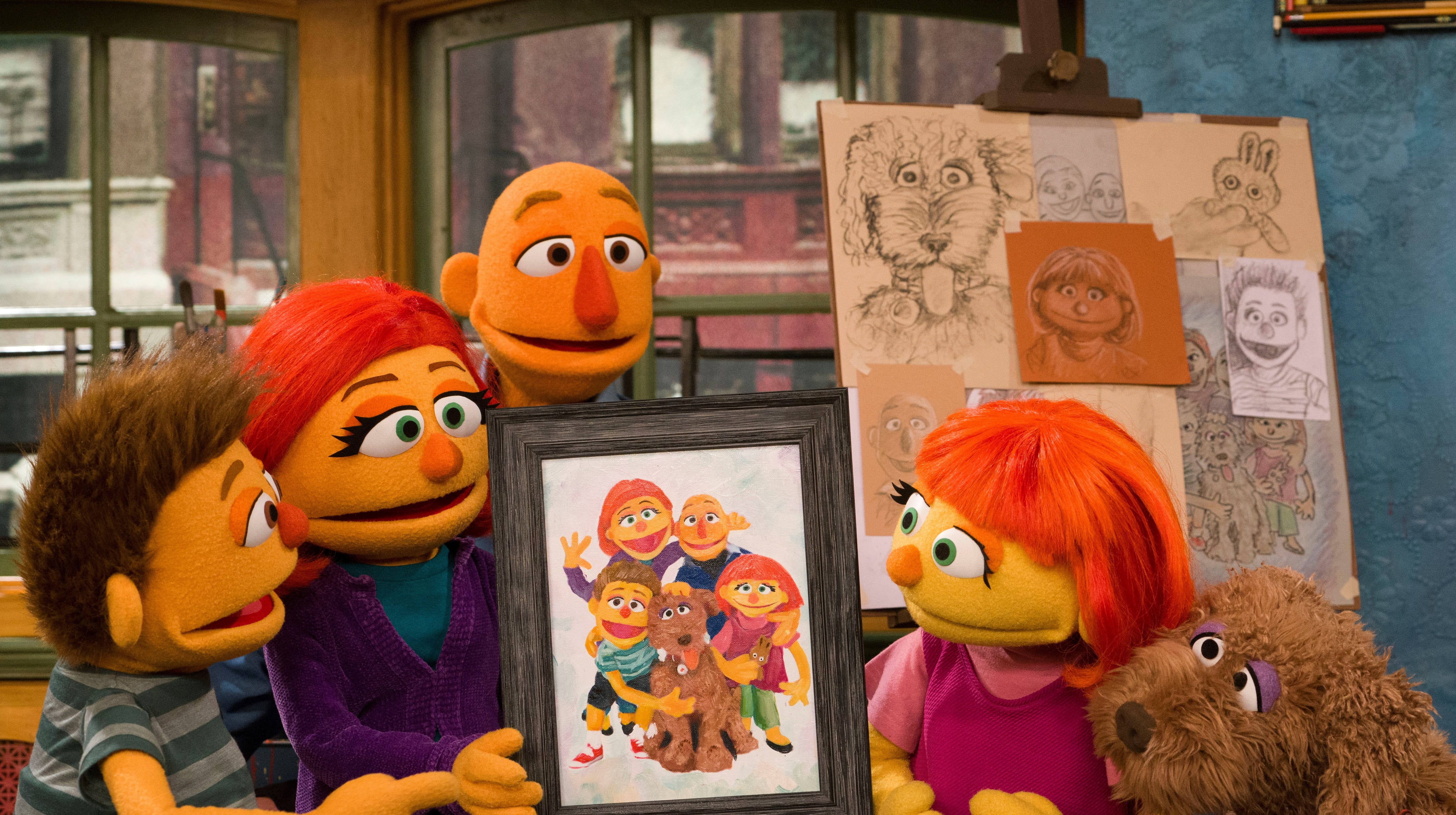 Julia is Sesame Street's first character with autism. Now we meet her family