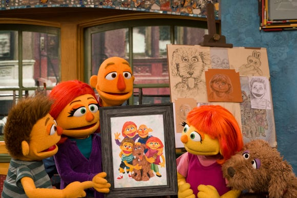Sesame Street's first character with autism Julia gets a family for Autism Awareness Month.