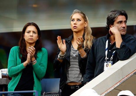 Anna Kournikova welcomed twins with husband Enrique Iglesias in December 2017.