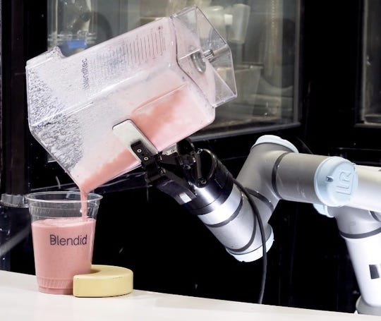 Blendid uses robotics to automated the more labor-intensive part about making a smoothie.