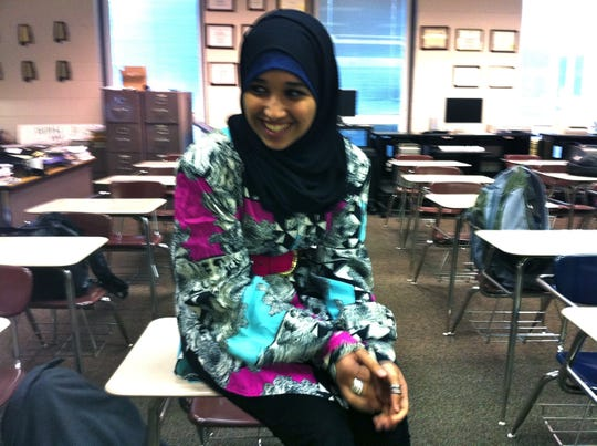 Hoda Muthana in class at Hoover High School in 2011.