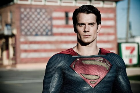 "Henry Cavill's Superman, as introduced in ""Man of Steel,"" was more morose than hopeful."