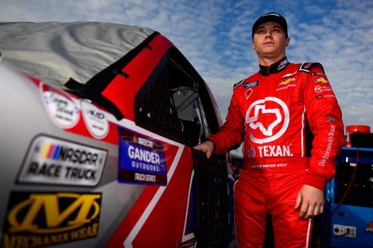 Austin Wayne Self stands on the grid at Daytona International Speedway on February 15.