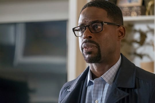 Randall (Sterling K. Brown) faces a critical present-day moment in his marriage to Beth and a difficult family reunion in Tuesday's Season 3 finale of 'This Is Us.'