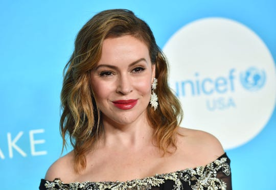 Actress Alyssa Milano attends the UNICEF Snowflake Ball on Nov. 27, 2018 in New York City.
