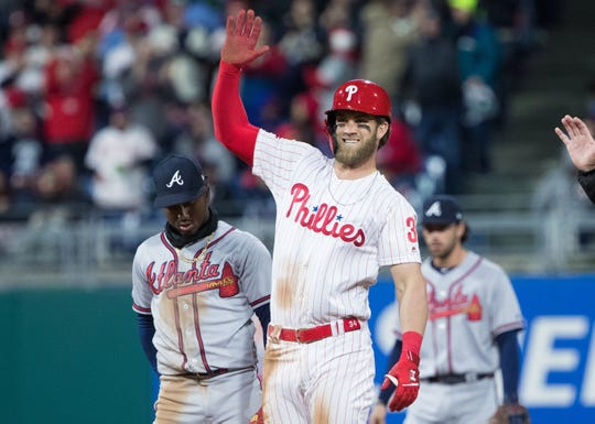 Bryce Harper played seven years in the majors with the Nationals.