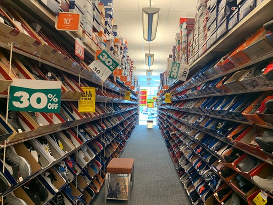 Many Payless ShoeSource stores had a large selection in early April, including this store in Stuart, Florida.