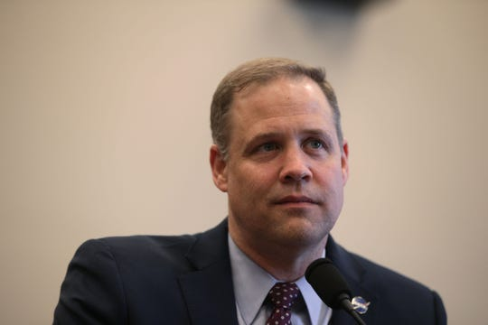 NASA Administrator James Bridenstine testifies during a hearing before the Commerce, Justice, Science, and Related Agencies Subcommittee of the House Appropriations Committee March 27, 2019 on Capitol Hill in Washington, DC.