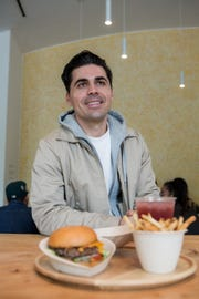 Alex Vardakostas, 34, founder and CEO Creator restaurant in San Francisco's SOMA neighborhood. His burger-making robot has been 9 years in the making.