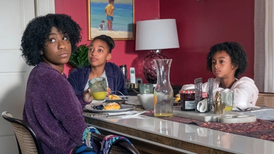 Pearson children Deja (Lyric Ross), left, and Tess (Eris Baker), sense tension in their parents' marriage, while little sister Annie (Faithe Herman) may still be too young to understand.