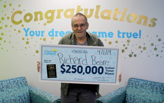 Richard Beare of Charlotte, North Carolina, won $250,000 from a scratch-off. Beare, who was recently diagnosed with stage four liver cancer, says he plans to take his wife to Italy with his winnings.