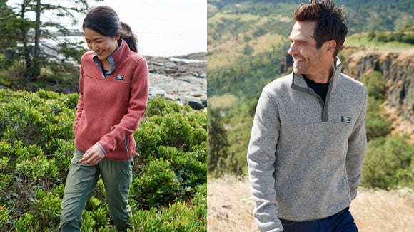This fleece will keep you warm, but not too warm.