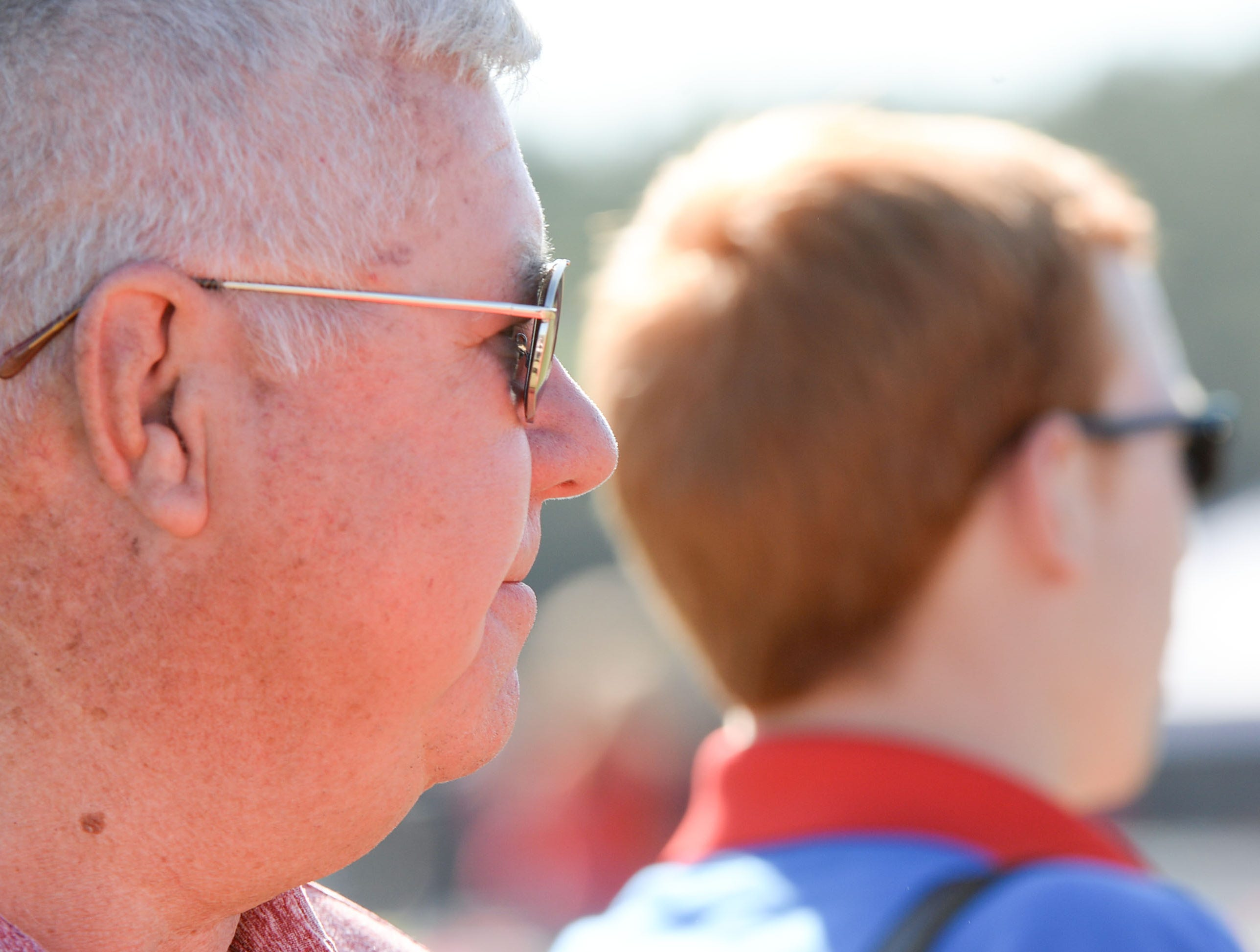 Hugh Oldham watches during the Special Olympics South Carolina Area 14 Spring Games at Marlee Gambrell field at Belton-Honea Path High School Wednesday.