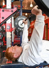 Will Blackston, a junior at Belton-Honea Path High School, in the weight room at the school in Honea Path Wednesday.