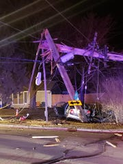 Police were on scene cleaning up a crash in Neenah for several hours Tuesday night.
