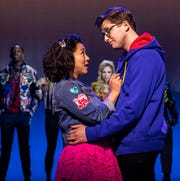 """Stephanie Hsu and Will Roland in """"Be More Chill."""""""