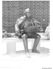 Government evidence photo of George Gilmore's $33,000 life-size bronze George Washington statue