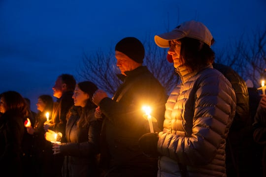 Mourners light candles as they remember Josephson. Hundreds attend memorial service at the West Town Center Lake gazebo in Robbinsville, N.J. for University of South Carolina senior Samantha Josephson. Josephson was killed after she mistakenly got into a car which she thought was the Uber ride she called.