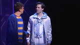 Will Roland, Jason Tam and the cast of Be More Chill sing the show's title song. Be More Chill currently plays the Lyceum Theatre on Broadway.