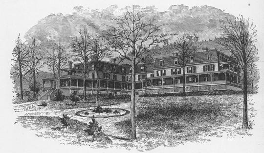 Engraving of Winyah Sanitarium c. 1897