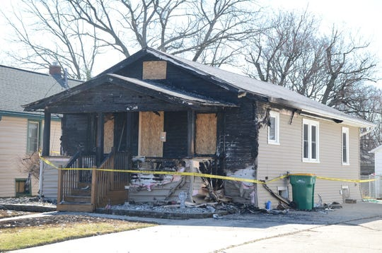 Fire damaged this home on Orleans Avenue Tuesday night.