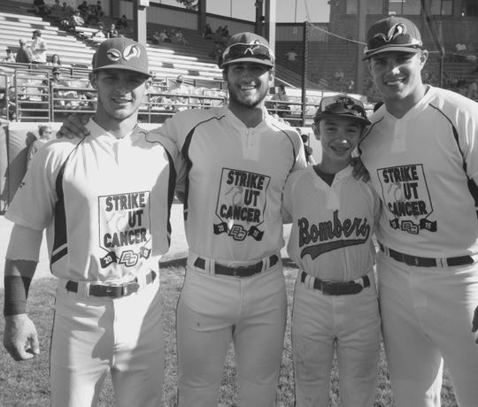 Members of the 2015 Battle Creek Bombers, Josh Smith, Christian Helsel and Gary Russo, all lived with the Glubke family during that summer, including Nate Glubke, who also served as the team's bat boy.
