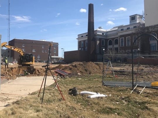 A new Battle Creek City Hall parking lot should be ready by early summer. The lot is where the old police department used to be.