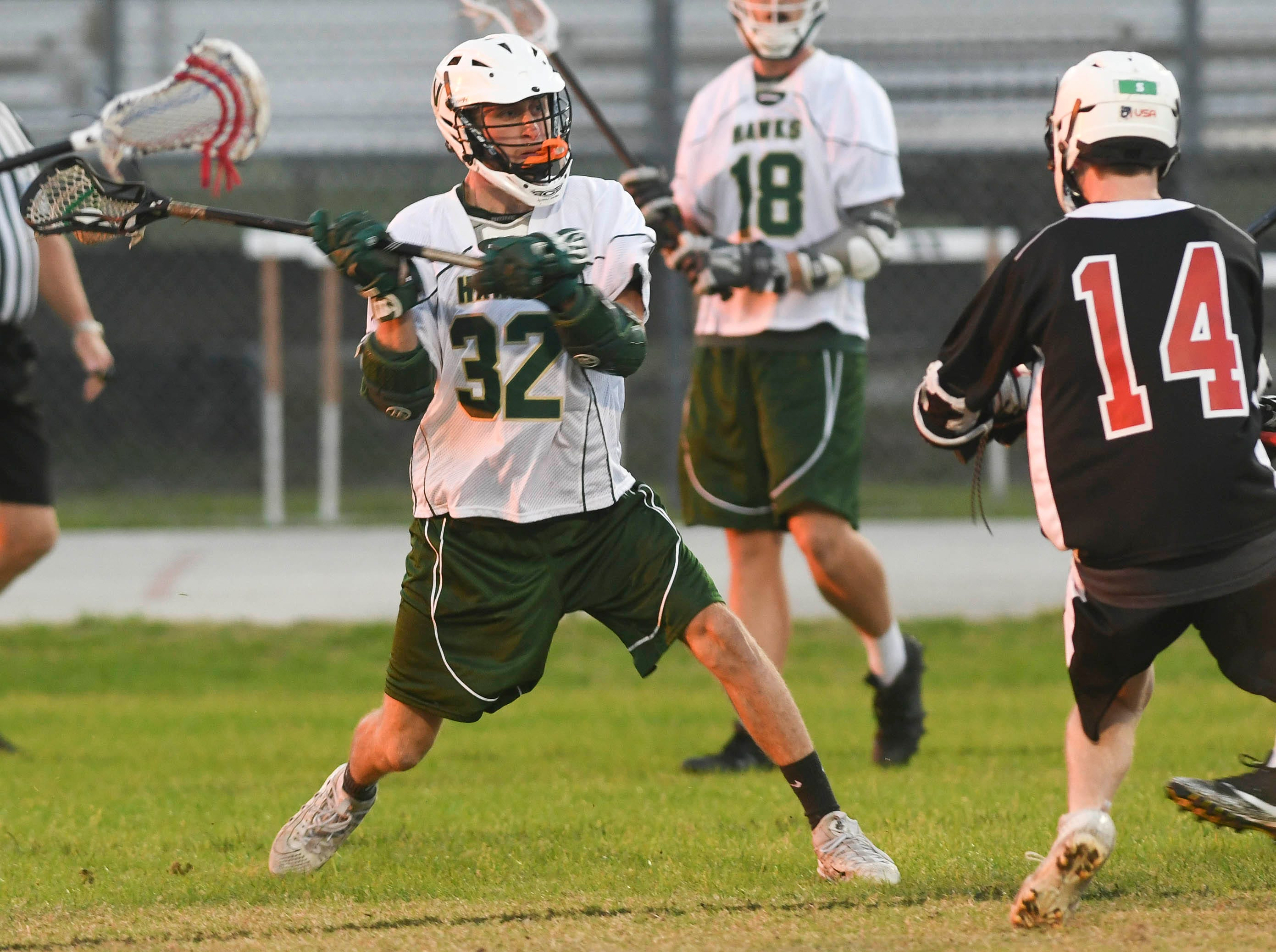 Viera's Will Patjens takes a shot on goal during Tuesday's game against Satellite.