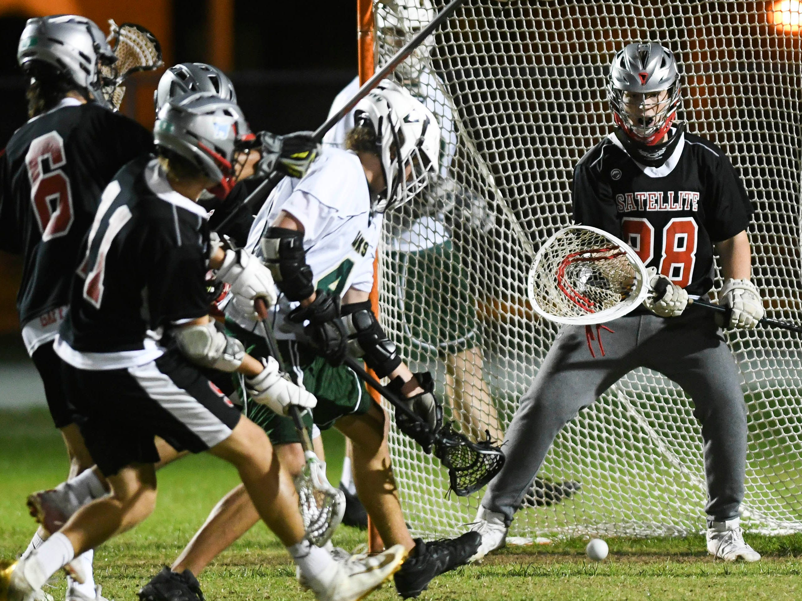 Gavin Wessell of Viera (4) takes a shot at the goal during Tuesday's game in Viera
