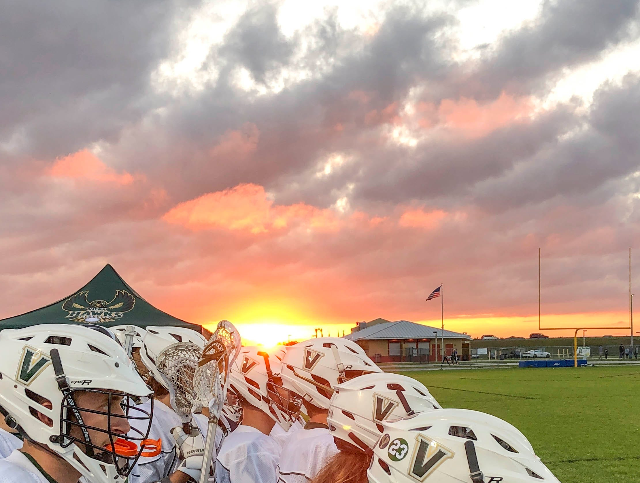 Viera lacrosse players keep teammate #23 in their minds as the play Tuesday's game against Satellite.