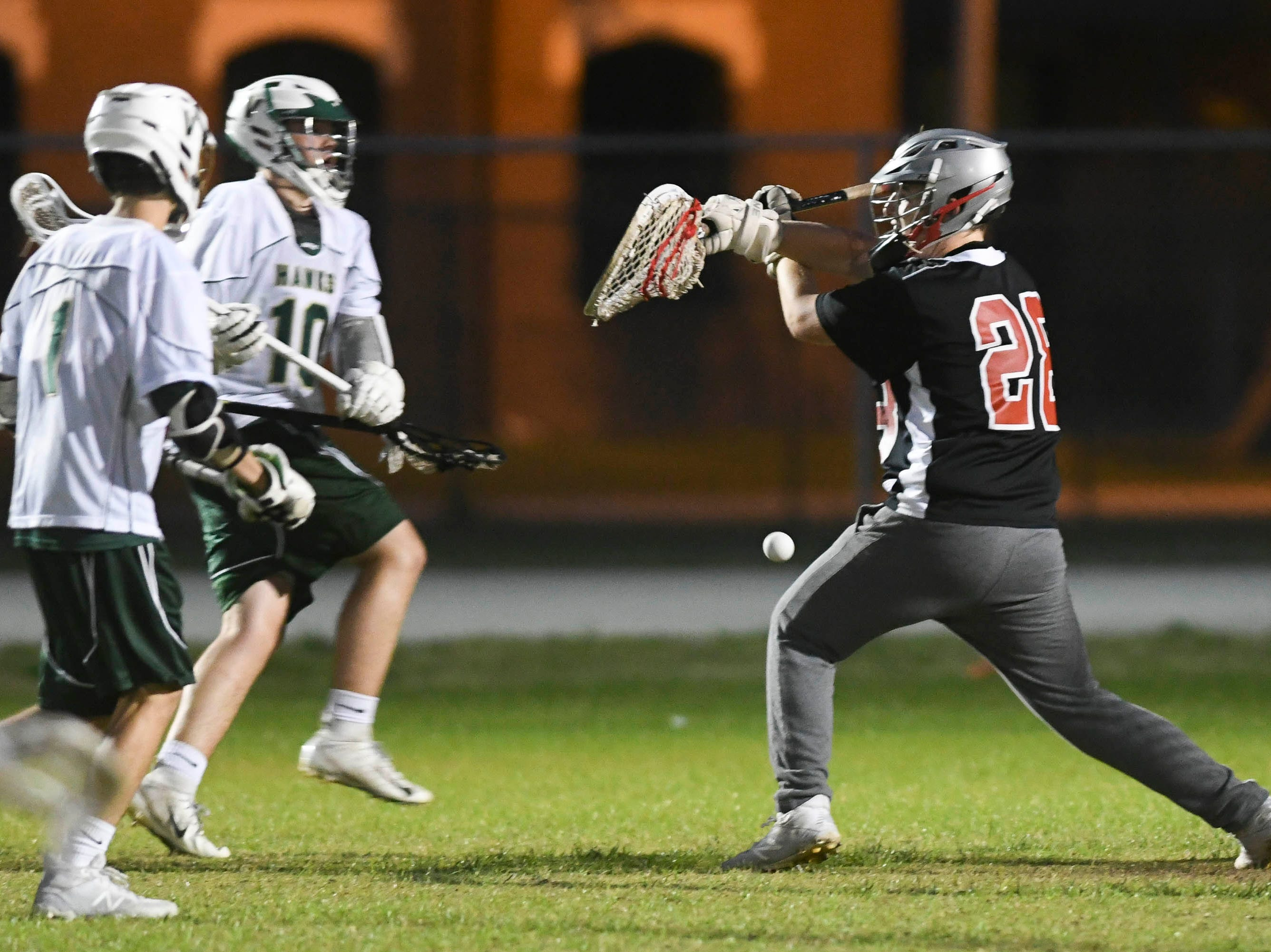 Satellite goalkeeper Jackson Lacy stops a shot during Tuesday's game against Viera.
