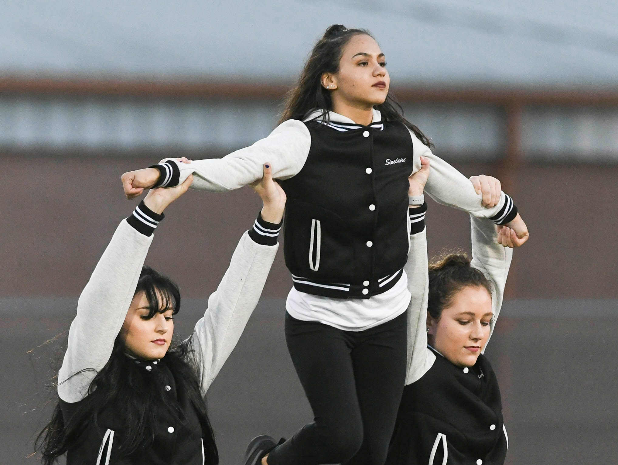 The Viera High dance team performs between periods during Tuesday's lacrosse game against Satellite.
