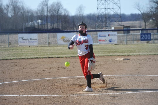 Caleigh Rister enters year three at the varsity level and has become arguably the most dominant pitcher in the area.