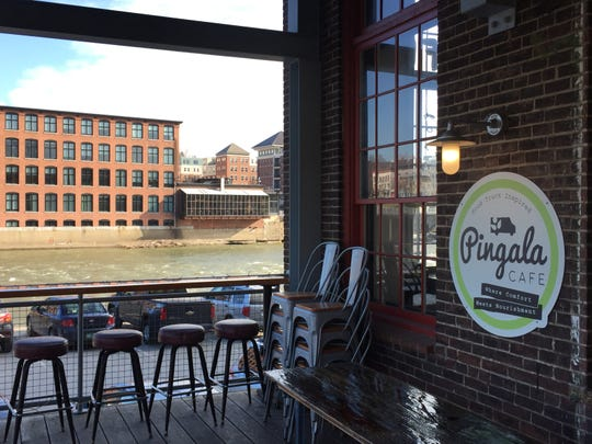 Pingala Cafe is at the Chace Mill on the Winooski River in Burlington.