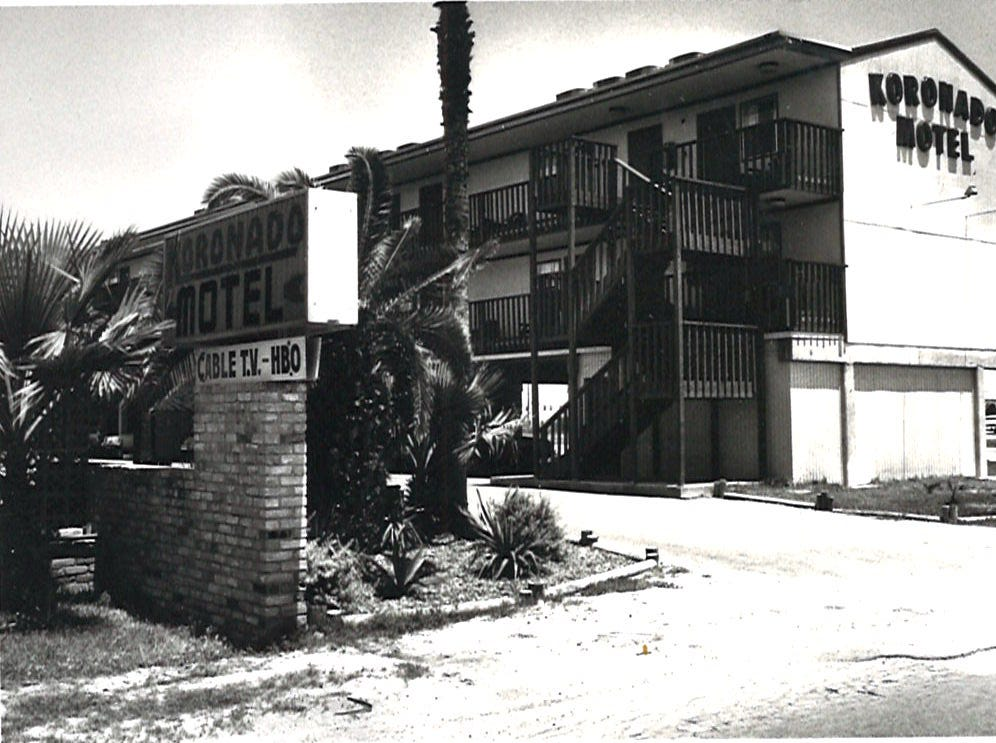 The Koronado Motel on Corpus Christi's North Beach in 1982.