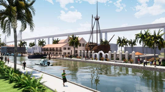 North Beach Infrastructure Task Force rendering of the proposed canal.