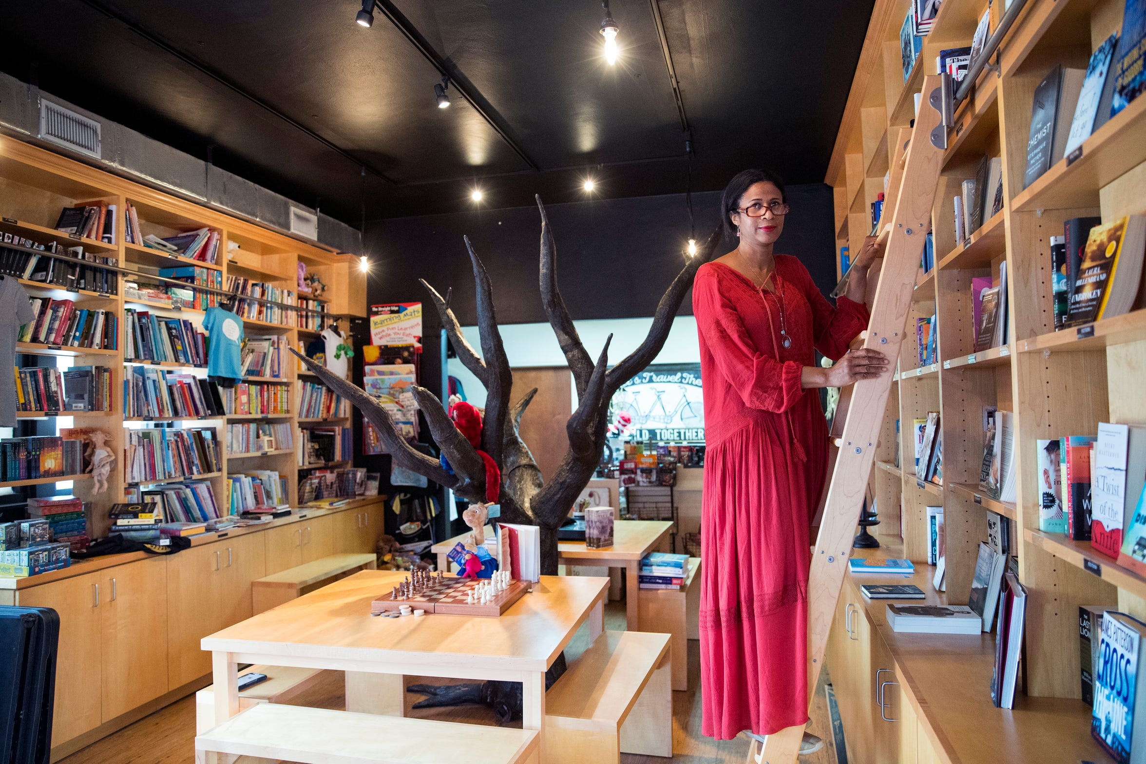 Dr. Jimie Owsley wanted her bookstore to help people be smarter. She gives away a free book every day to help people grow their personal libraries and the books offered in the store are books to help people become smarter. By the Book opened in 2016, but was shuttered as road construction limited accessibility to her business. They have reopened.