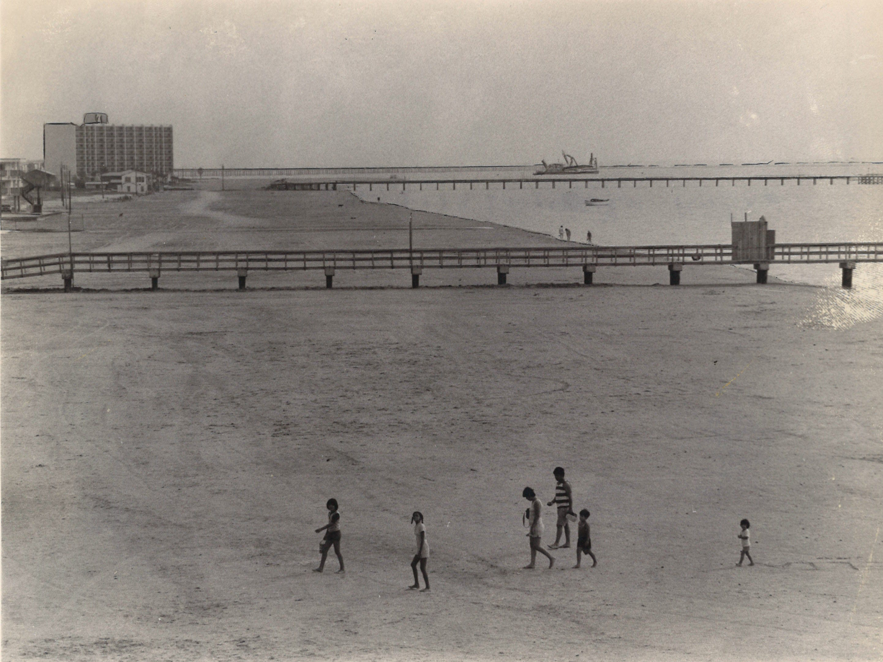 Corpus Christi's North Beach in July 1977.