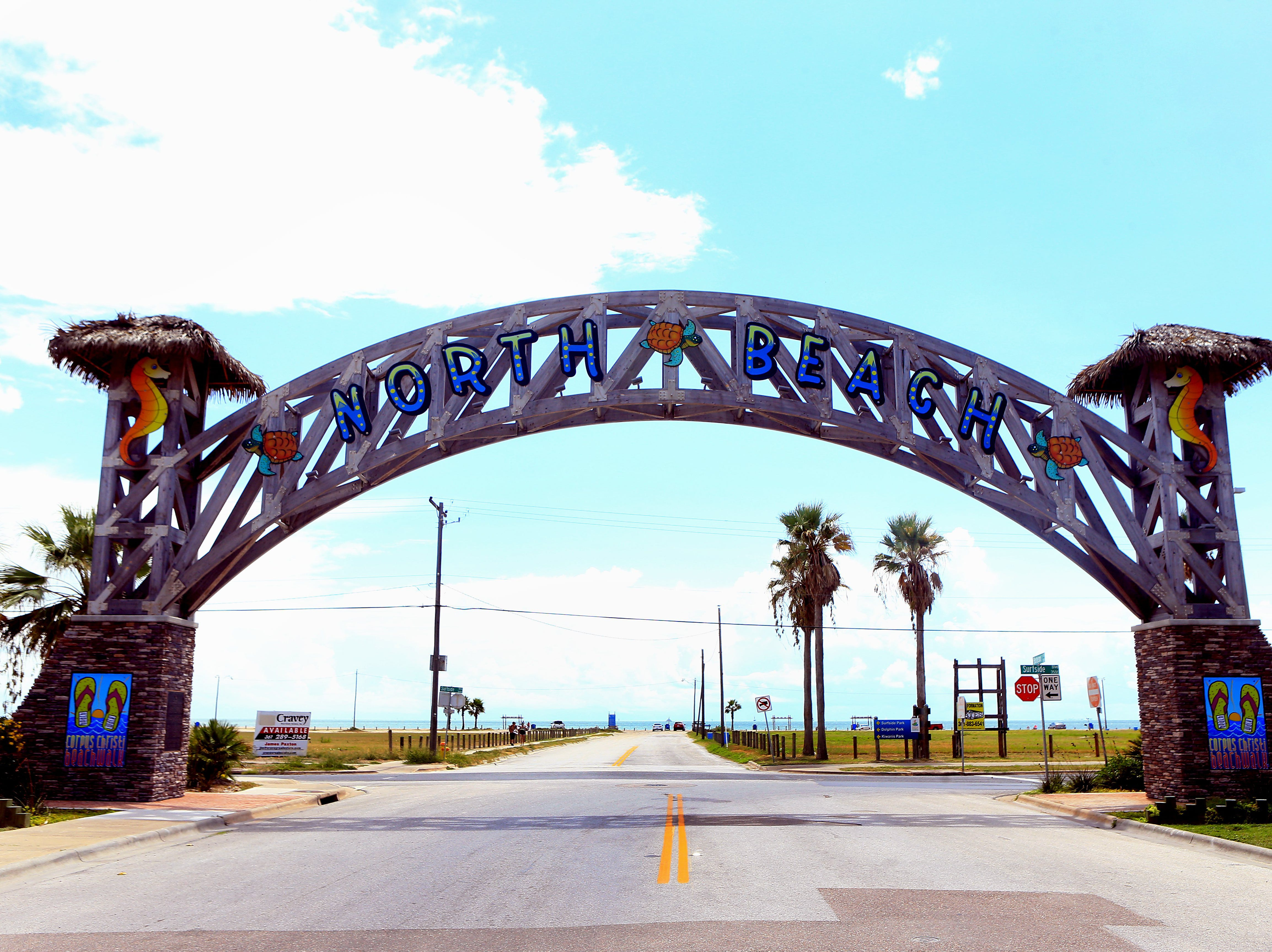 The North Beach sign welcomes people Wednesday Sept. 2, 2015 in Corpus Christi.