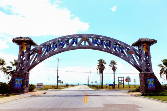 The North Beach sign welcomes visitors in Corpus Christi.