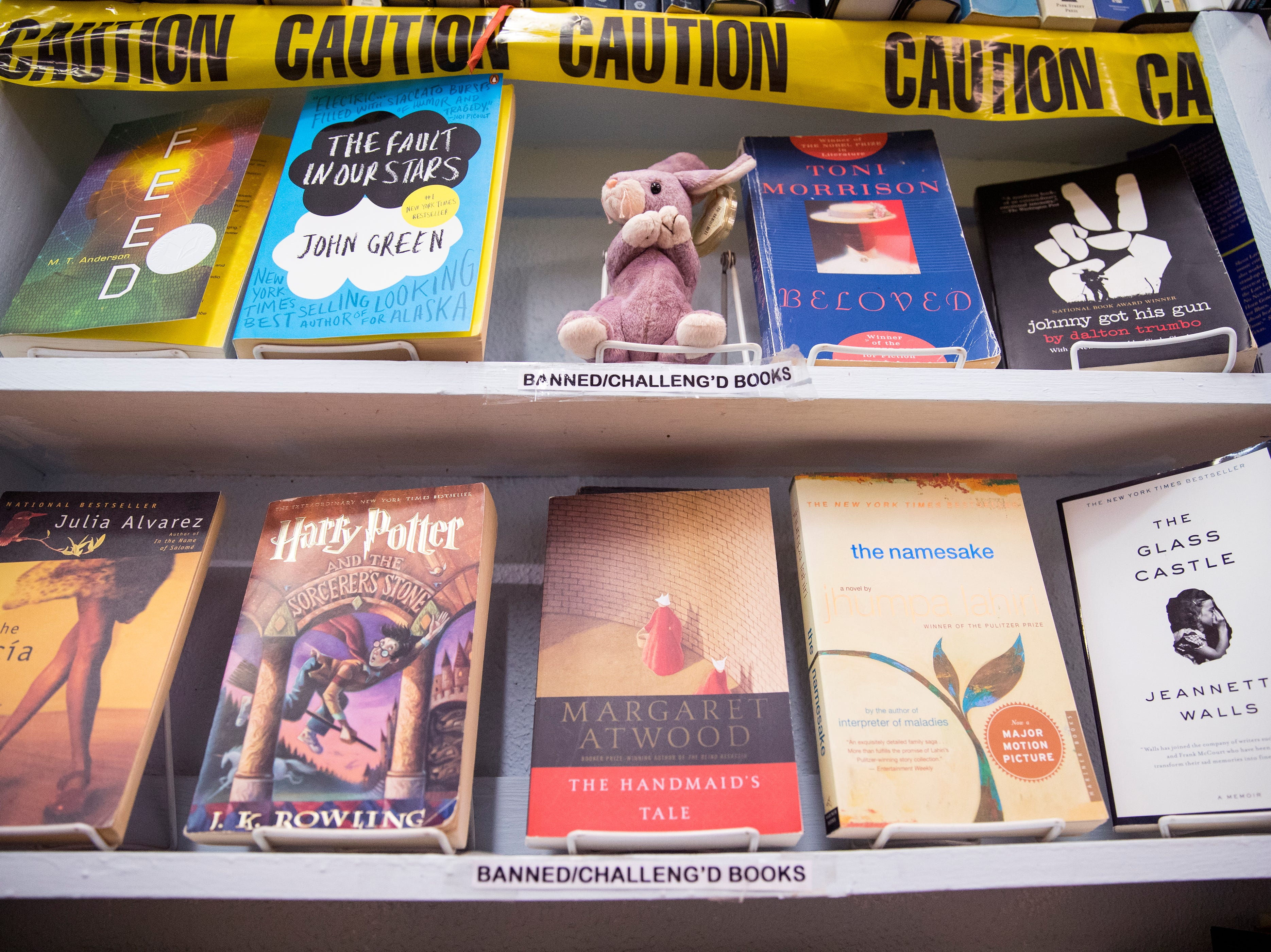 Jennifer Hay, owner of Books Ink, has a special section in her used bookstore for books that have been banned, or are currently banned. They are popular sellers, she said.